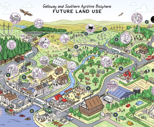 The facilitated FORLAND workshops identified a shared desire for a diverse, mixed and integrated living and working landscape that supports a wide range of innovative low carbon and biodiversity friendly land-based activities including farming, forestry, tourism and nature conservation.